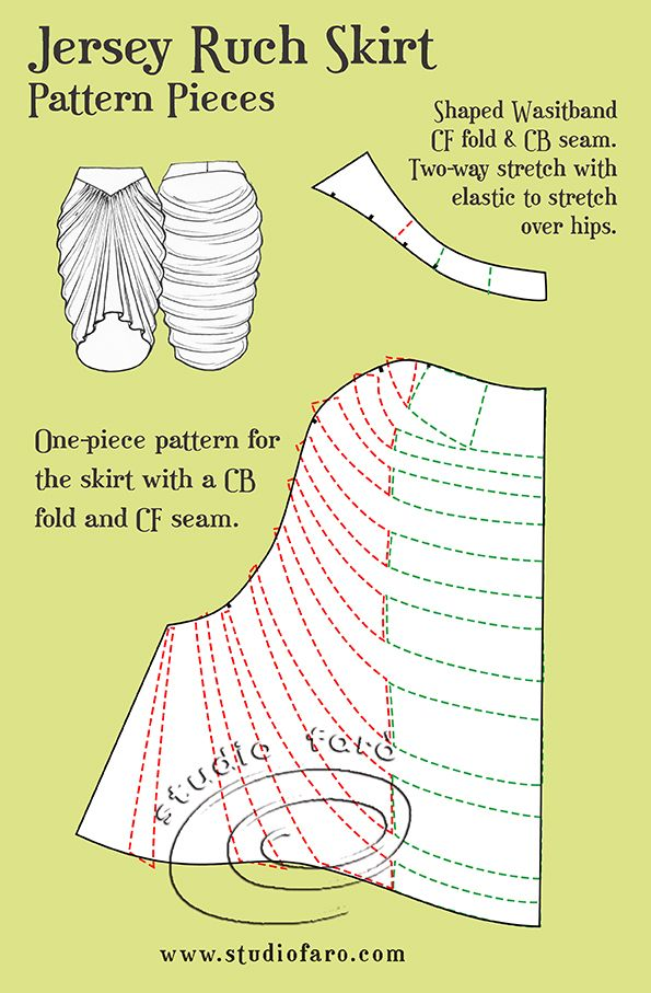 Jersey Drape patterns from our Drape Skirt Patterns Workshop.  Enquire now...