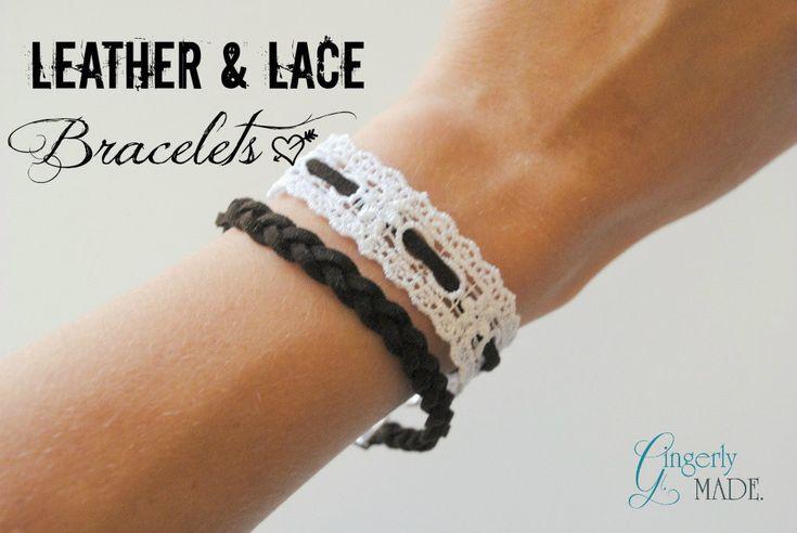 Gingerly Made: Leather & Lace Bracelets