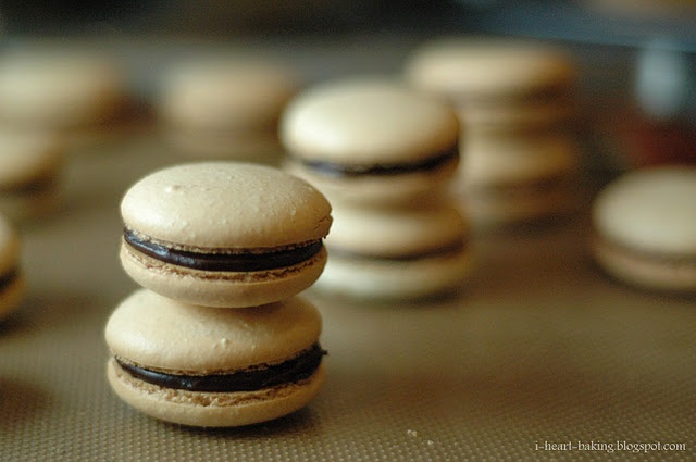 French macarons with chocolate ganache | Tasty Treats I Plan to Make ...