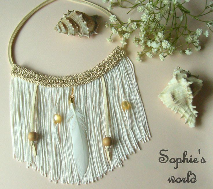fringes boho handmade necklace  χειροποίητο κολιέ με κρόσσια κ φτερό #fringes #bohem #handmade #feather necklace https://www.facebook.com/Sophies-world-712091558842001/