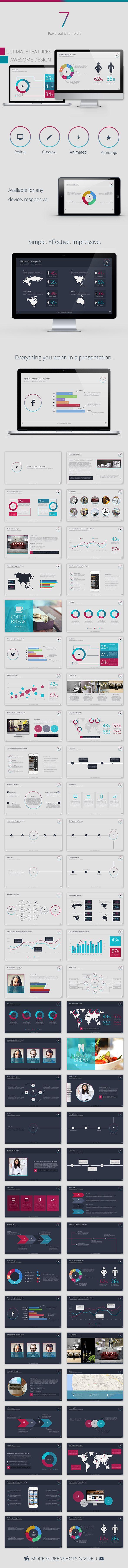 Se7en Powerpoint Template - Creative PowerPoint Templates