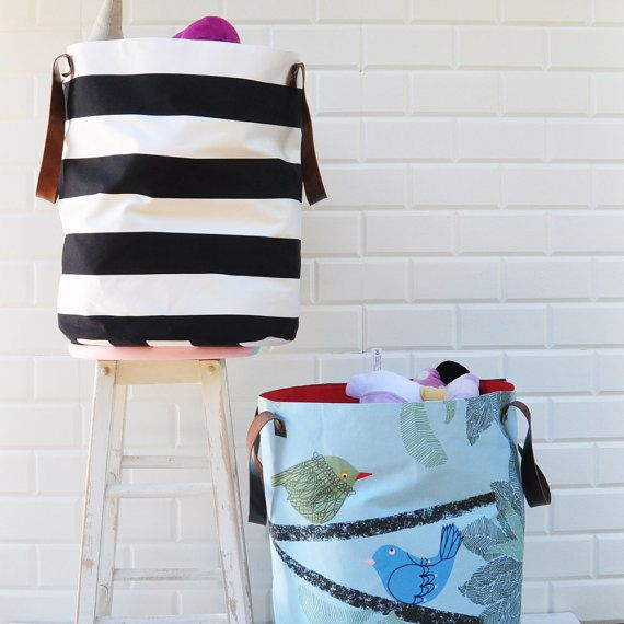 XXL Birds Toy Bin Laundry Hamper Toy Basket by LoveJoyCreate