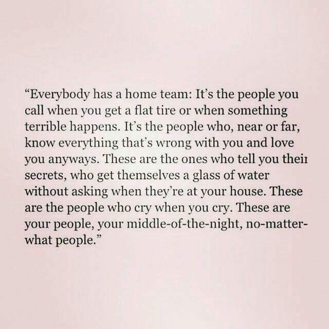 So true. JLS and I talked about this tonight. Forget the people that don't show up. Like is short. And we are blessed ❤