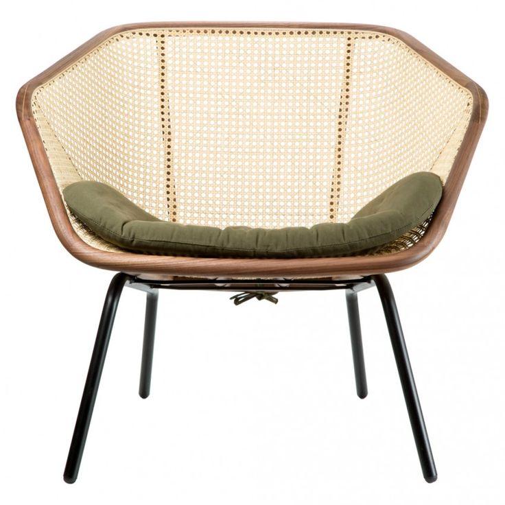 Chaise Colony Noyer Amp Kaki Mobilier Furniture