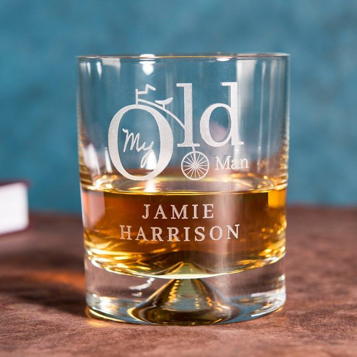 Personalised Whisky Tumbler - My Old Man | GettingPersonal.co.uk