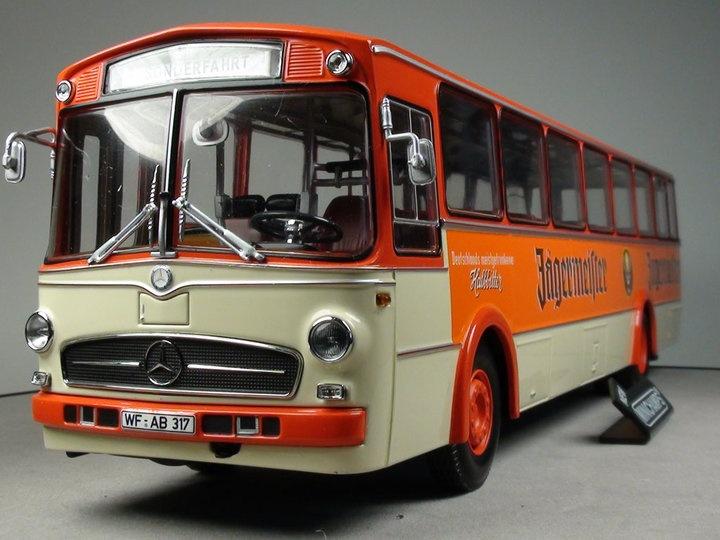 Minichamps - Diecast - Mercedes-Benz O317K Bus 1966 - Jagermeister