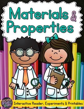 Materials & Properties Science Unit- interactive reader, printable activities, and hands-on experiments (NGSS 2-PS1-1, 2-PS1-2,  2-PS1-4) $