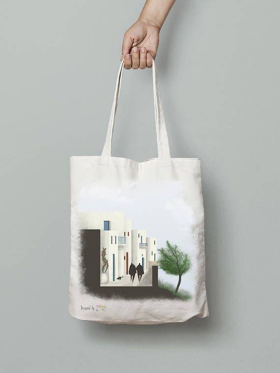 Greek tote bag tote bag canvas canvas tote bag for women