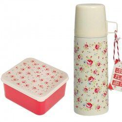 Thermosflasche  und Brotdosen Set PETITE ROSE von Rexinter