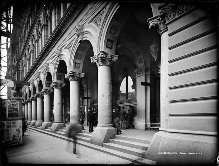 General Post Office,in Martin Place in Sydney in c1890.A♥W