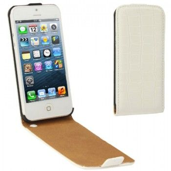Crocodile Pattern Case for iPhone 5 - White