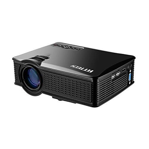 RtTech Portable Mini HD Projector 1080p, 1500 Lumens LED Video Projector For Home Theater Movies, LCD LED Mini Projecteur, Connects to Tablet or PC Via HDMI, AV, VGA, USB and SD (SD60 - With WiFi)