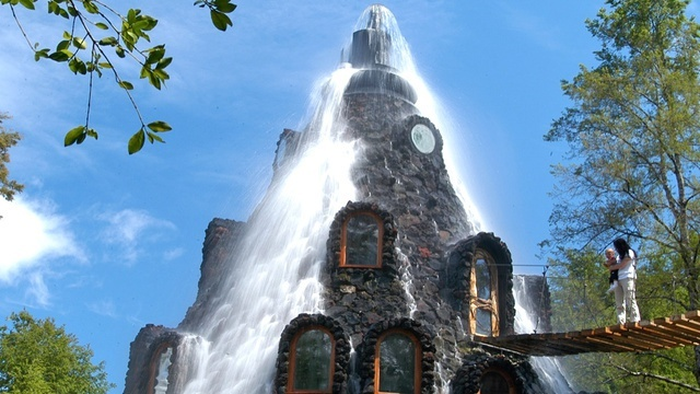 La Montana Magica Lodge, south of Santiago in central Chile (man-made volcano hotel!)