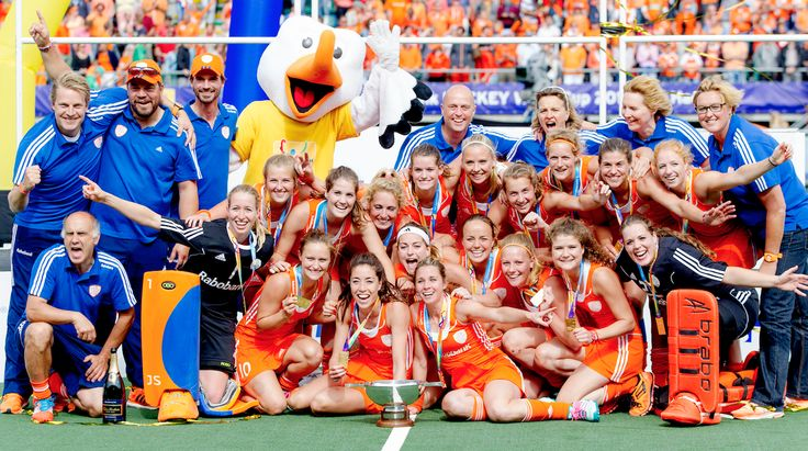 De Nederlandse Hockeydames zijn in 2014 wereldkampioen geworden in Den Haag