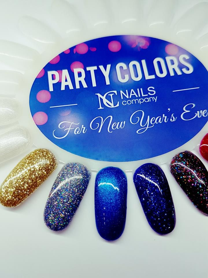 For New Year's Eve Party Colors by Nails Company. Be colourful and glittering.