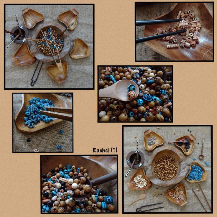 "Fine motor work with tweezers, spoons and beads from Rachel ("",)"