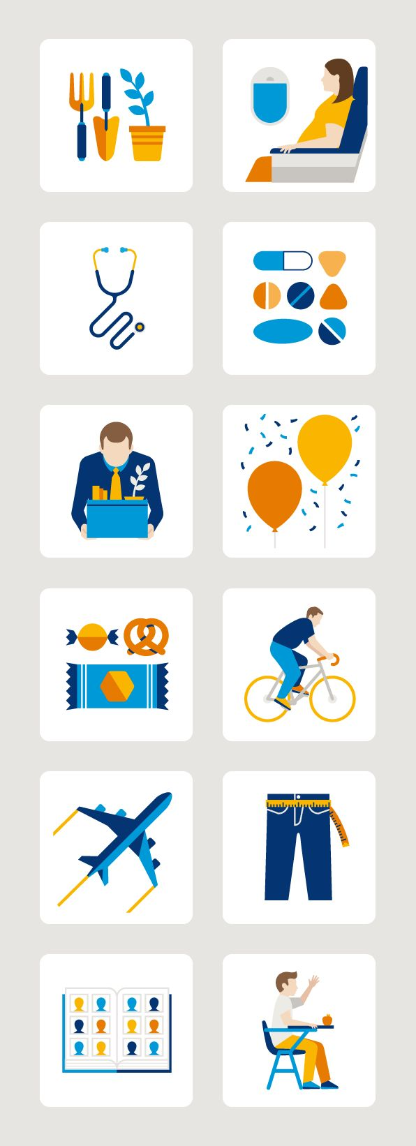 Earlier this year I was asked by BBDO to help create 70 health inspired icons for the Danish pharmaceutical company Novo Nordisk. With art direction from the BBDO team and guidance from my agent George Grace, we were able to produce a set of icons that work in line with the existing Novo Nordisk brand.Here are selection of icons with the rest soon to be uploaded onto my site.