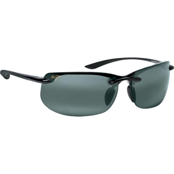 Maui Jim Banyans Polarized Sunglasses, Men's, Gloss Black/Neutral Grey