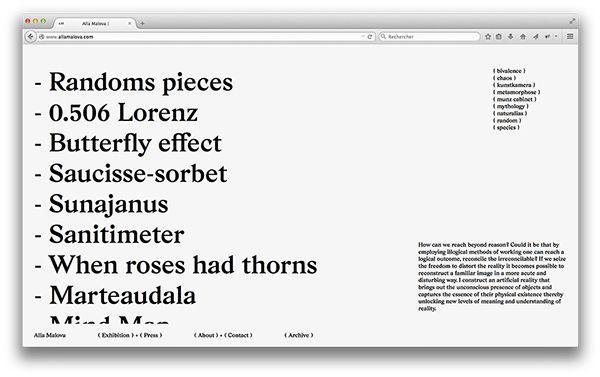 Alla Malova on Behance. Love day huge readable text. #readdatweb