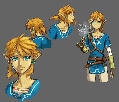 "New Link design from the Zelda E3 trailer. """