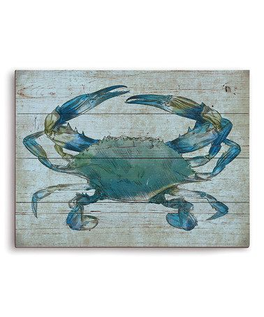Look what I found on #zulily! Blue Crab Wall Art #zulilyfinds
