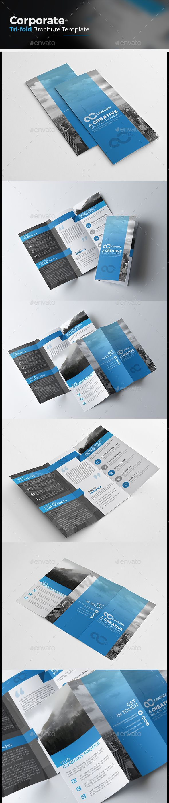 Tri fold Business Brochure Template PSD #design Download: http://graphicriver.net/item/tri-fold-business-brochure/14009280?ref=ksioks