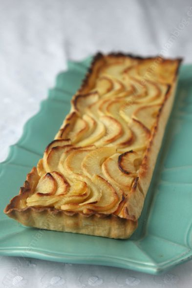 tarte aux pommes avec crème patissiere Christophe Fleder LE MIAM MIAM BLOG 01