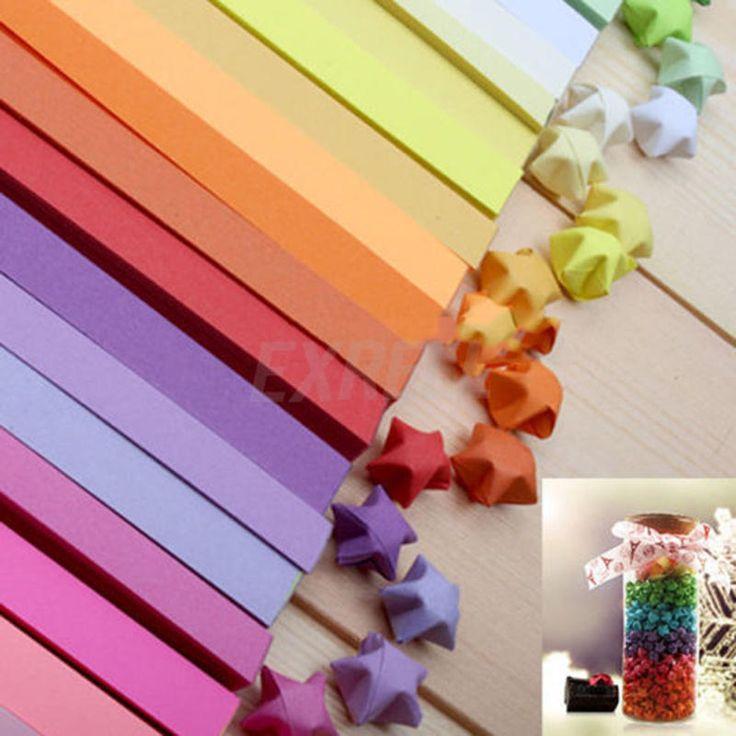 3 Farben Origami Lucky Star Papierstreifen Falten DIY Geburtstagsgeschenk 270 Streifen | e …