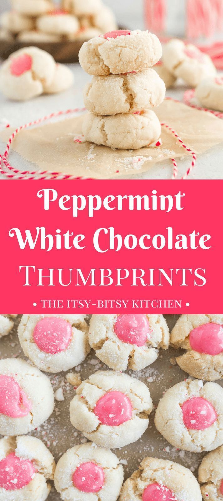 White Chocolate Peppermint Thumbprint Cookies Recipe Christmas