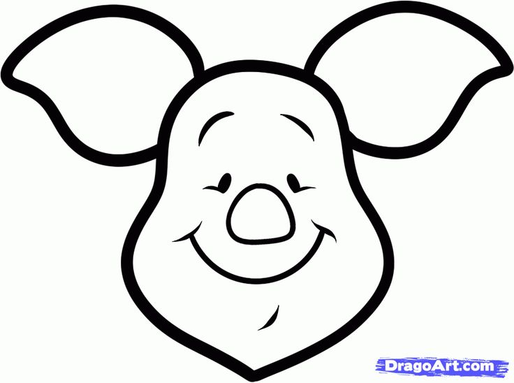 How to Draw Piglet Easy, Step by Step, Disney Characters