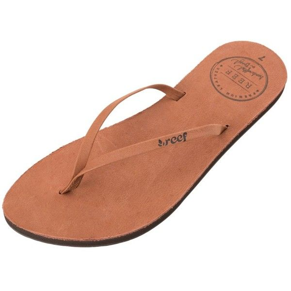 Reef Womens Uptown Flip Flop (330 CNY) ❤ liked on Polyvore featuring shoes, sandals, flip flops and cocoa
