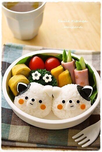 Cute onigiri bento