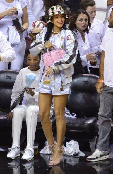 Rihanna at Miami Heat Game