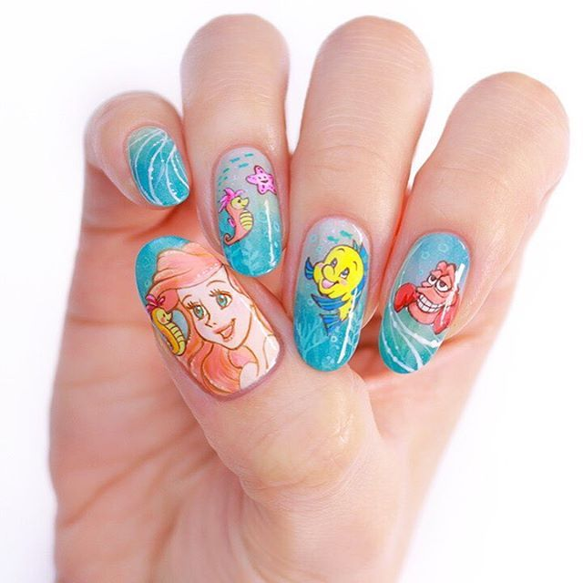 Princess Themed Nails: 257 Best Disney Inspired Nails And Makeup Images On Pinterest