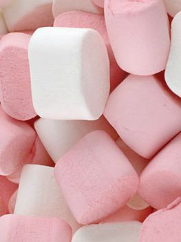 Pink Marshmallow cake (1909); white cake with pink marshmallow frosting. The pink marshmallows make a very pretty cake