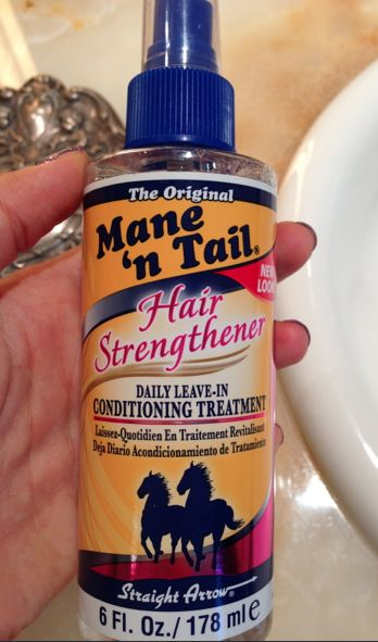 Spray onto ends of hair to grow hair long. it actually works! (gotta try this)