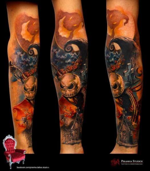 Tim burton tattoo sleeve google search tattoos i want