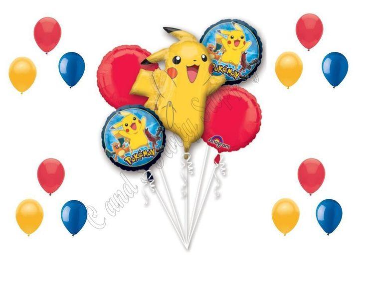 POKEMON GO Birthday Party Balloons Decoration Supplies Pikachu Game #Anagram #1STbIRTHDAY