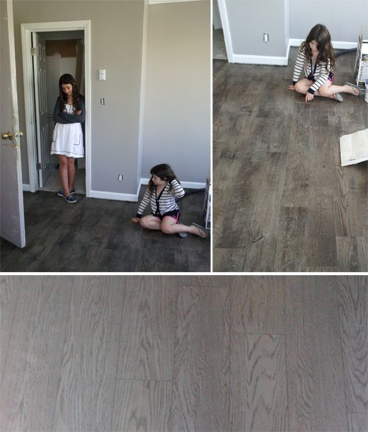 Faux wood floors.. Linoleum - would definitely need linoleum or vinyl... because dogs.