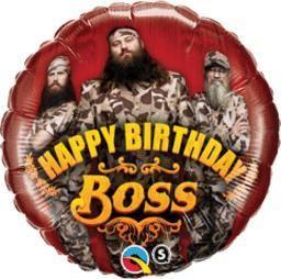 "18"" Dd Happy Birthday Boss -Non-Pkg foil balloon (5ct)"