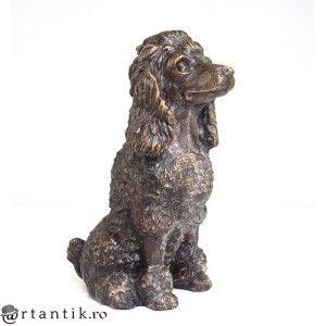 statueta decorativa - Pudel - bronz - Austria secol XX