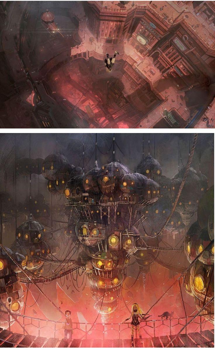 Sensacionais Concept Arts do game Gravity Rush | THECAB – The Concept Art Blog – Concept Art – Environments
