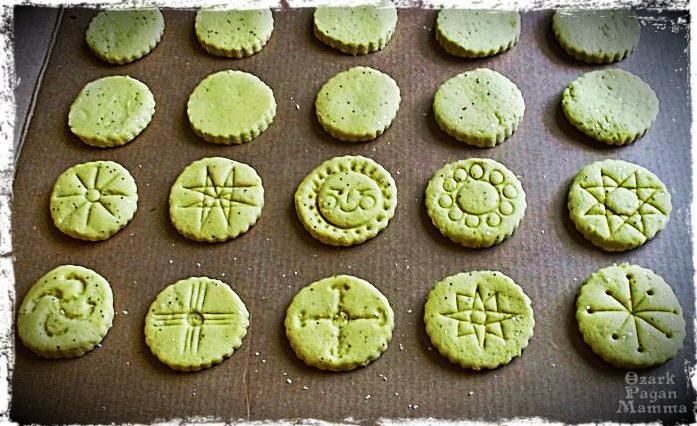 biodegradable ritual offerings | salt dough sun medallions