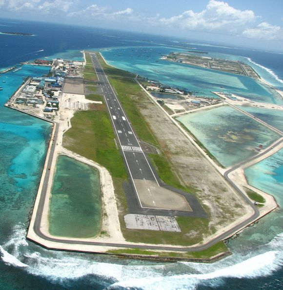 Don't fancy landing on this runway! IBRAHIM NASIR INTERNATIONAL AIRPORT, MALDIVES