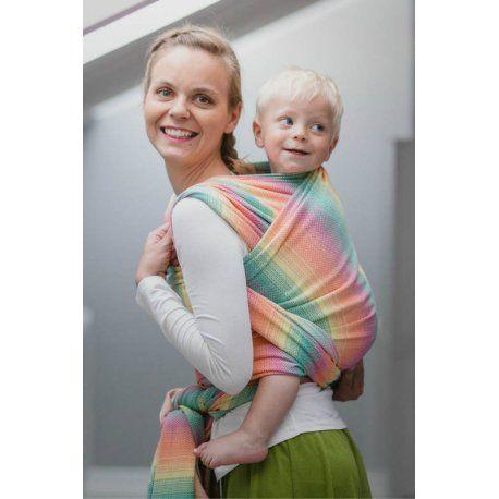 Šátek na nošení dětí LennyLamb Little Herringbone Imagination ze 100% organické bavlny. Limitovaná edice.