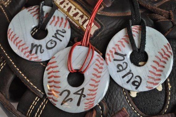 Cute baseball necklace