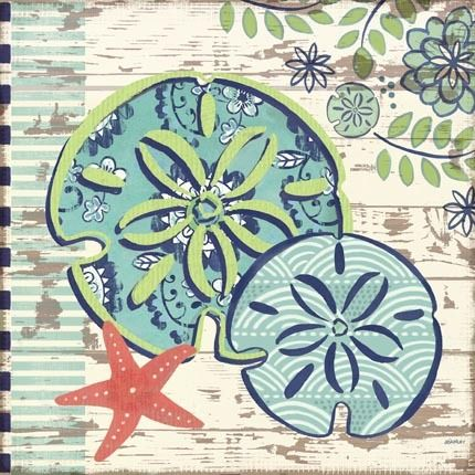 Oceania-Sand Dollars by Jennifer Brinley   Ruth Levison Design
