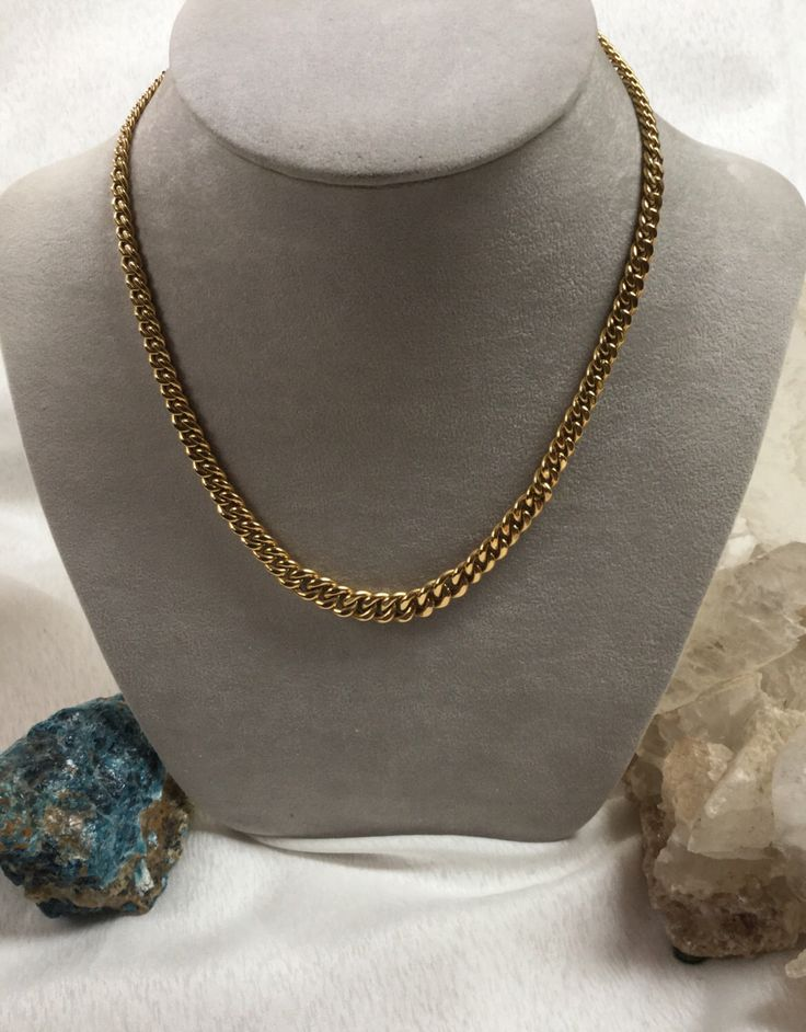 A personal favorite from my Etsy shop https://www.etsy.com/listing/451666090/18-k-italian-gold-chain-tapered-link