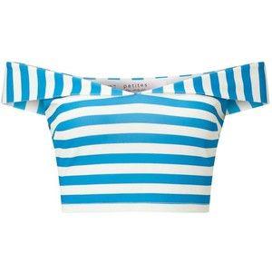 Miss Selfridge Petites Stripe Bardot Top
