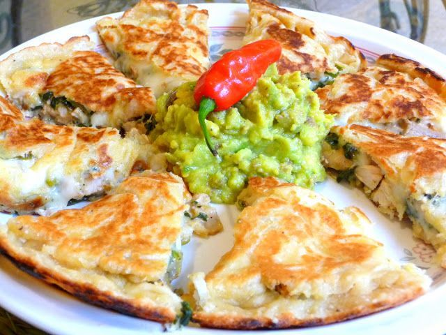 CLICK ON THE PHOTOS TO SEE BIGGER IMAGES MOLTEN CHEESE BEEF OR CHICKEN QUESADILLAS On vacation I enjoyed Quesadillas at Chili's in the airport in Miami. This was my first visit to Chili's ever! I m